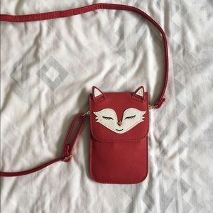 Fox style crossbody phone wallet